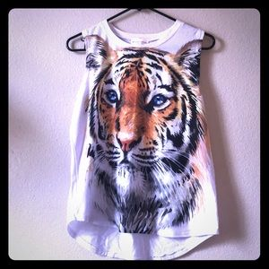 Zara Tiger Graphic Muscle Tee